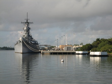 The Missouri as seen from the Arizona Memorial