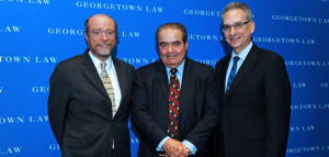 Dean William Treanon, Justice Antonin Scalia, and Professor Randy Barnett